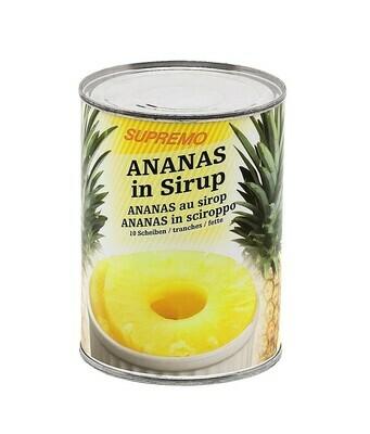Ananas Scheiben in Sirup