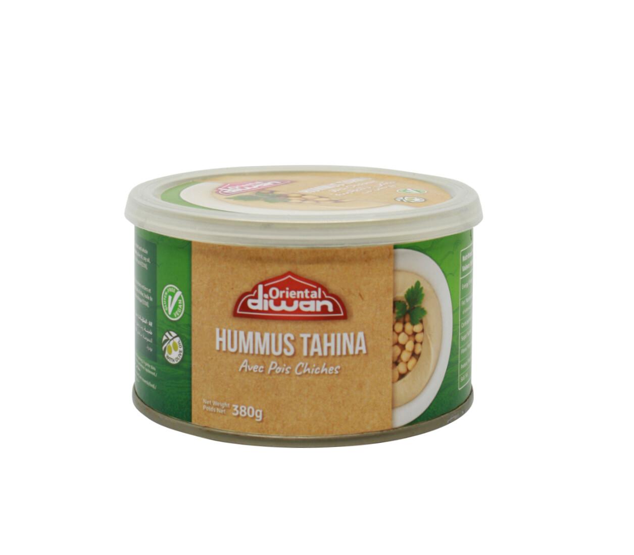 Kichererbsenpüree mit Tahini und Olivenöl (Hummus)