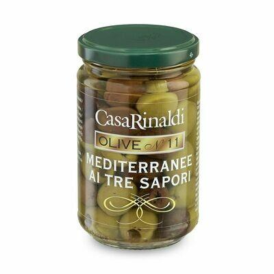 entsteinte Oliven Mediterranee - dreifarbig