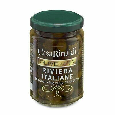 entsteinte Oliven Riviera in Olivenöl extravergine