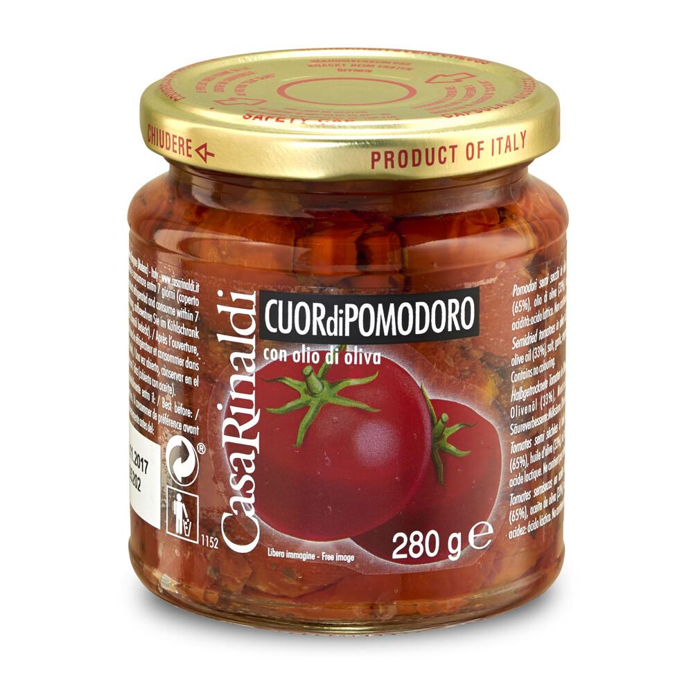 halb-getrocknete Tomaten in Olivenöl