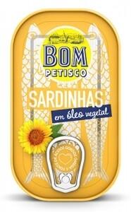 Sardinen ganz in Sonnenblumenöl