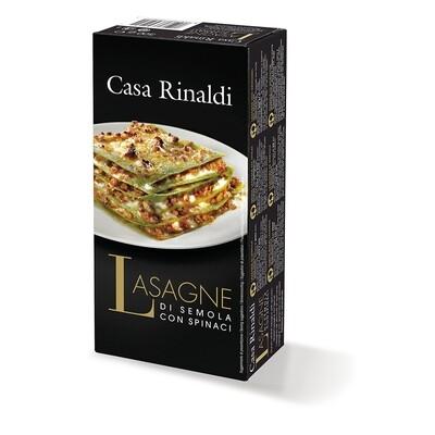 Griess-Lasagna mit spinat (ohne Eier)