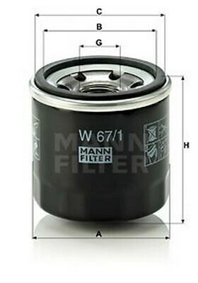 Õli filter MANN W 67/1