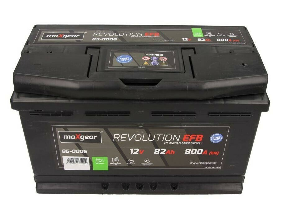 STARTER BATTERY 12V 82AH/800A L- EFB/START - STOP