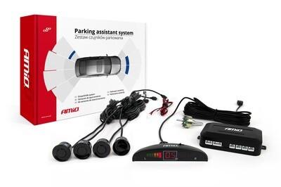 Parking assistant system LED 4 sensor black