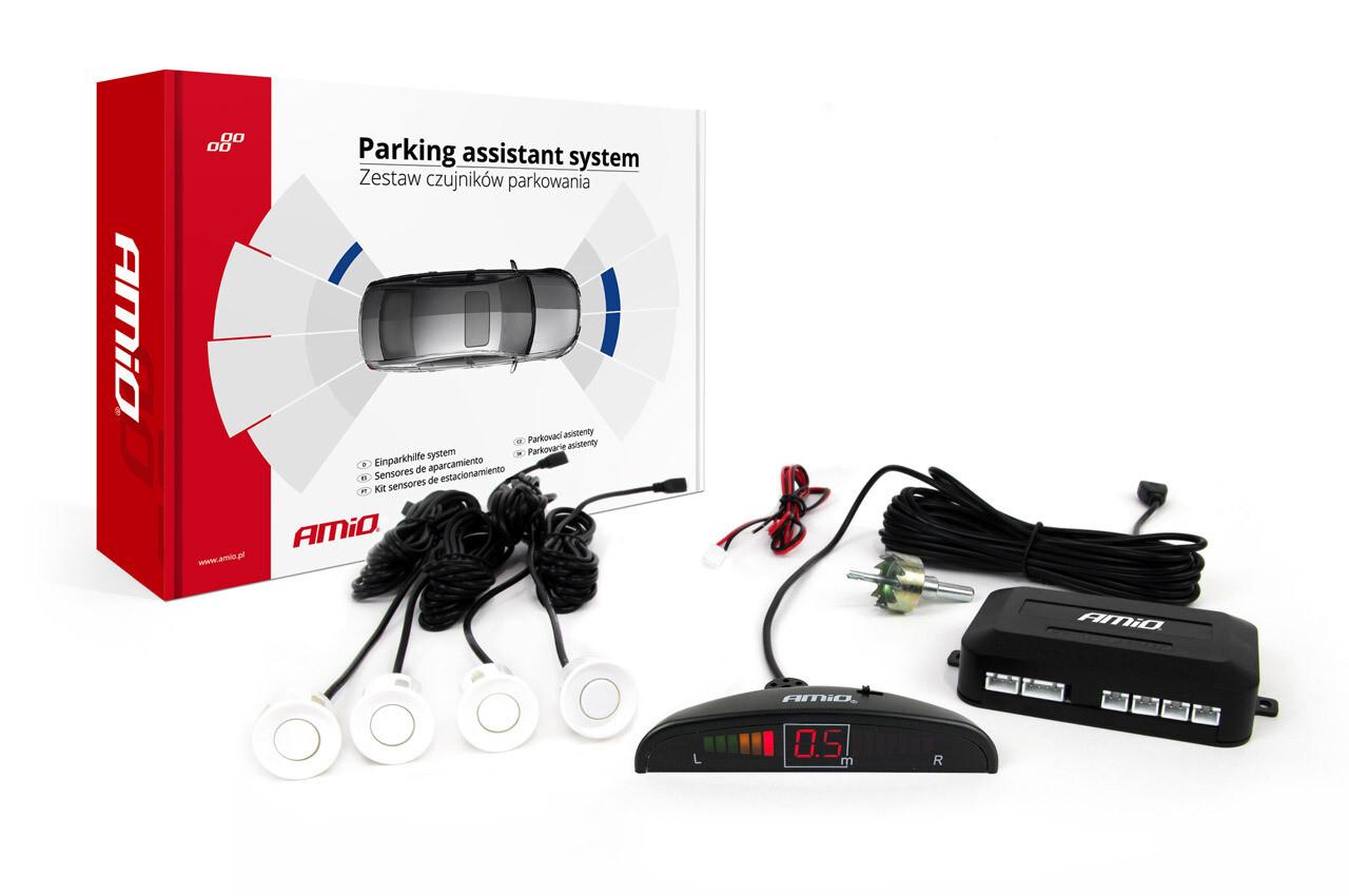 Parking assistant system LED 4 sensor white