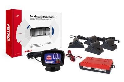 Parking assistant system LED-GRAF 4 sensor black TRUCK 19mm