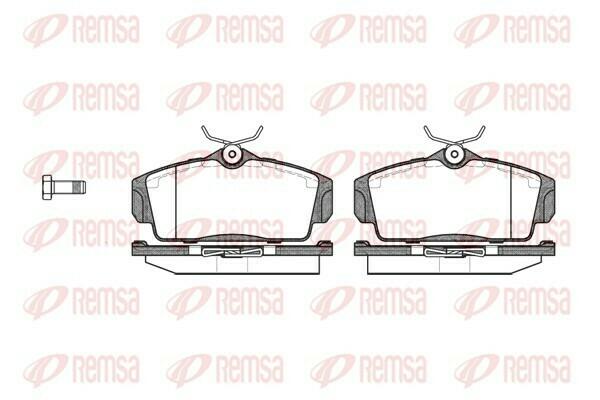 Комплект колодок для дисковых тормозов REMSA передний мост