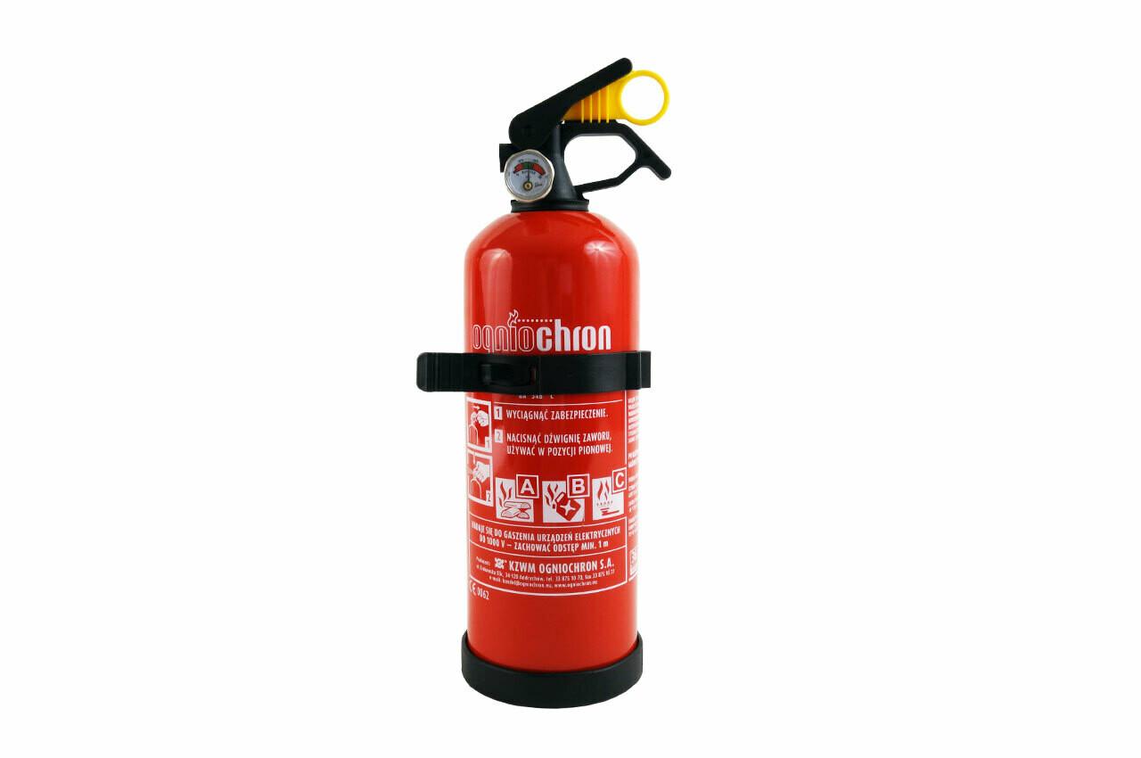 Порошковые огнетушители ABC с предустановки датчика и настенной фиксации, 1 кг