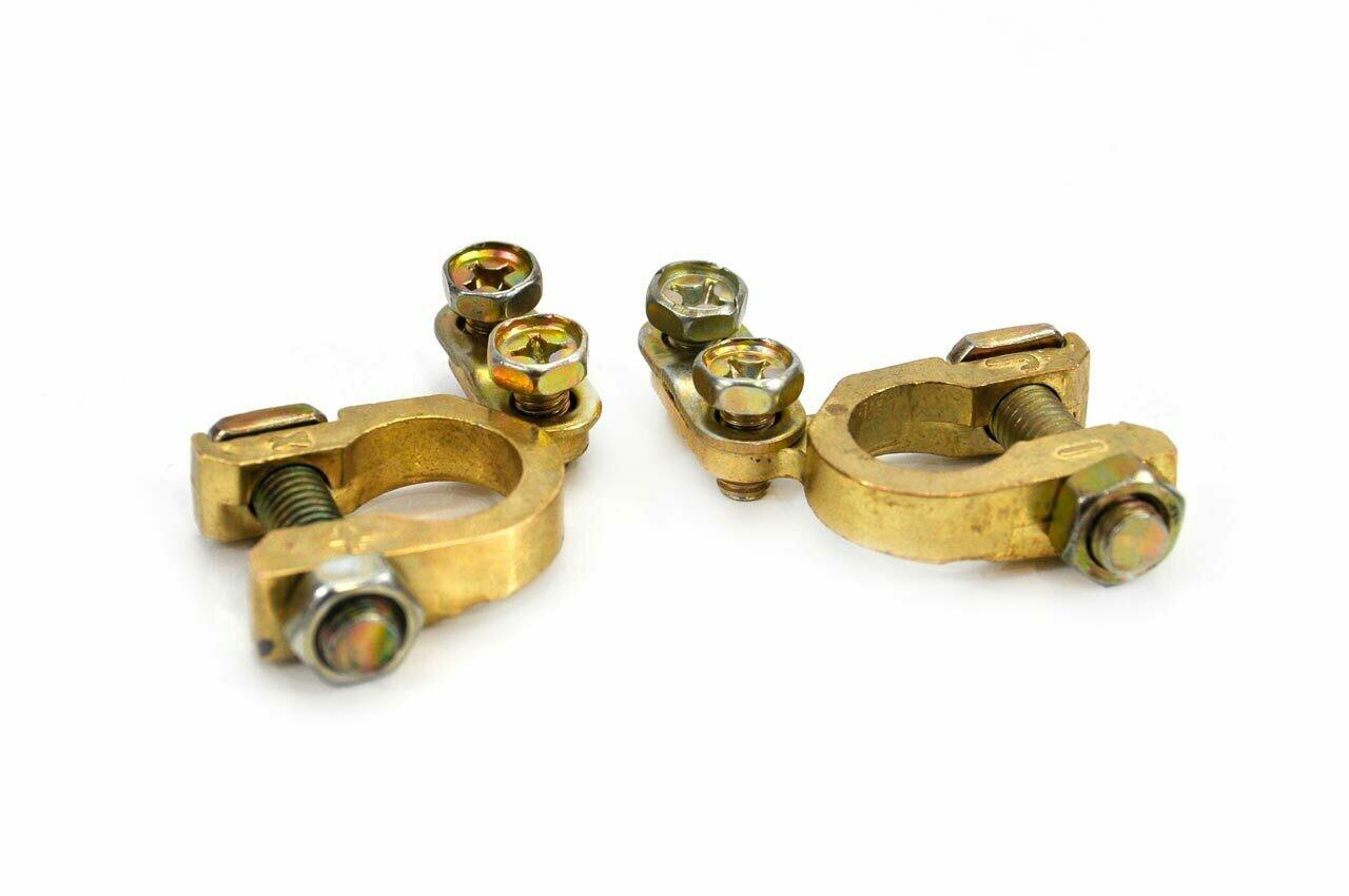 Brass battery terminals 2 pcs