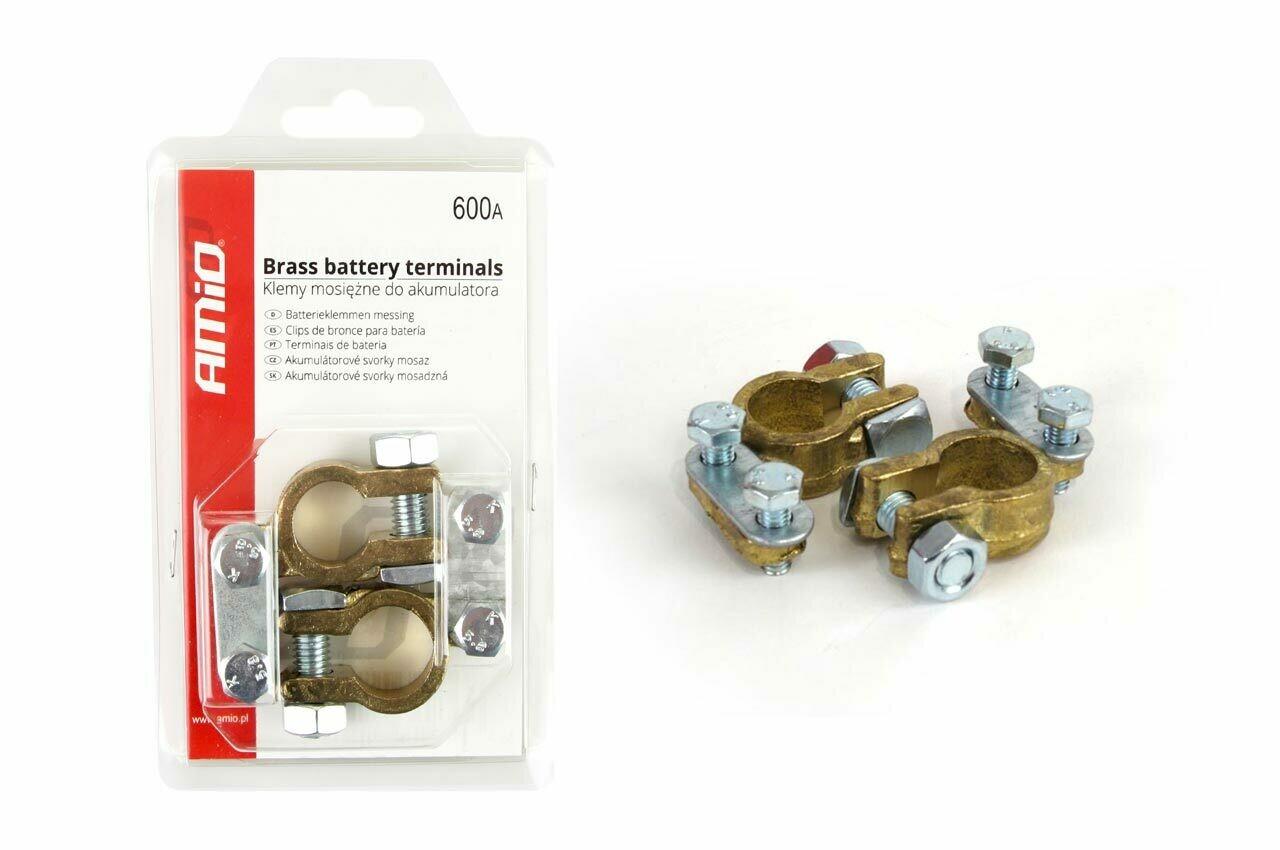 Brass battery terminals 600AMP, 2 pcs.