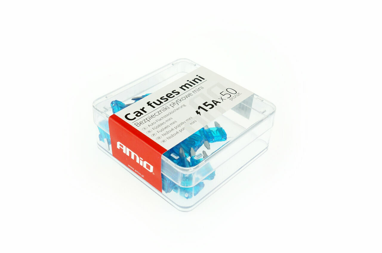 Car blade fuses mini box 50 pcs 15A