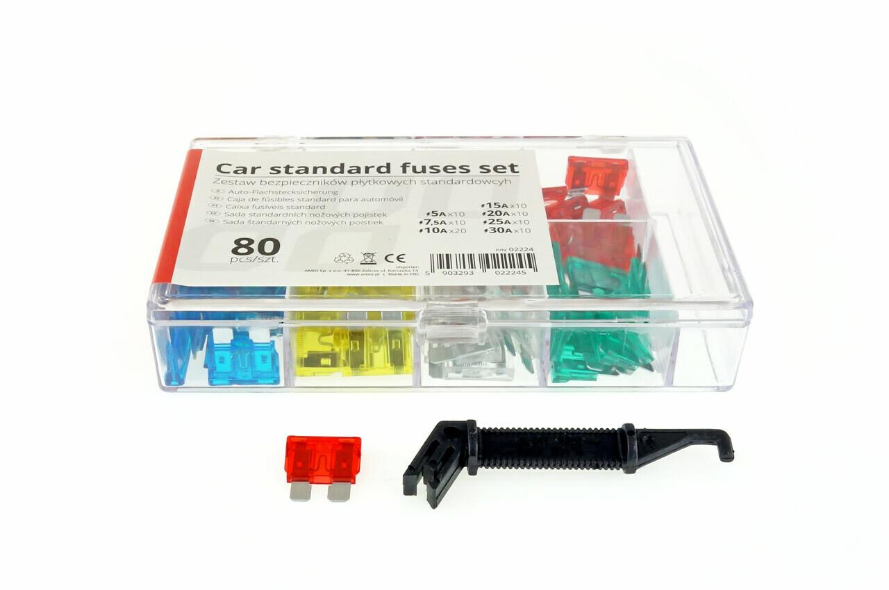 Car blade fuses standard box 80 pcs MIX