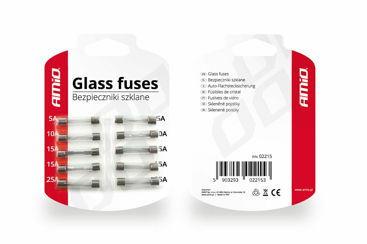 Glass fuses 10 pcs