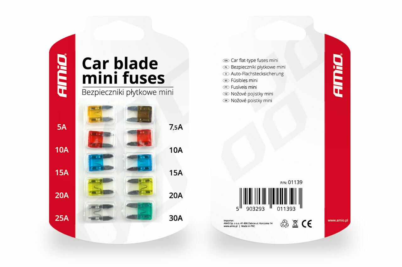 Mini fuse 10pts blister