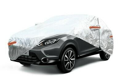 ALUMINIUM CAR COVER with ZIP, REFLECTIVE, 120g + cotton,Silver, size: SUV/VAN XL