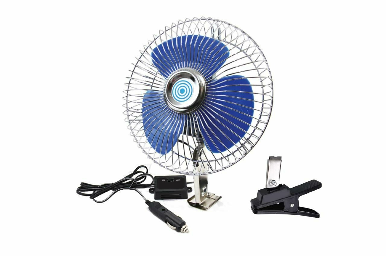 Car Fan Metal with Screw mount + clip CFAN-15 +24V