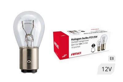 Halogen bulbs P21/5W BAY15D 12V 21W/5W 10pcs