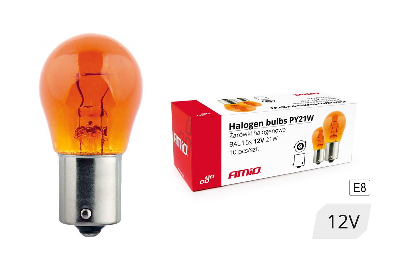 Halogen bulbs PY21W BAU15s 12V 21W AMBER