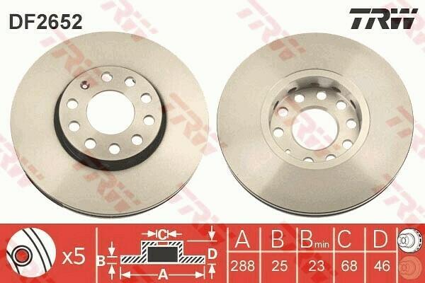 Тормозной диск передний