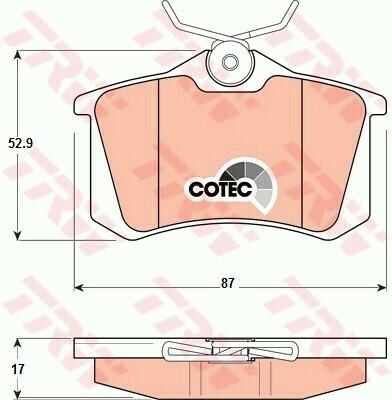 Комплект колодок для дисковых тормозов задние