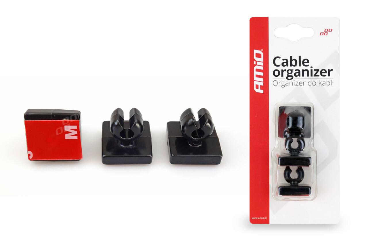 Cable organizer 3 pcs - silicone