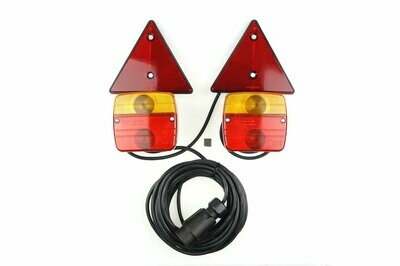 Magnetic trailer lamp set with triangle
