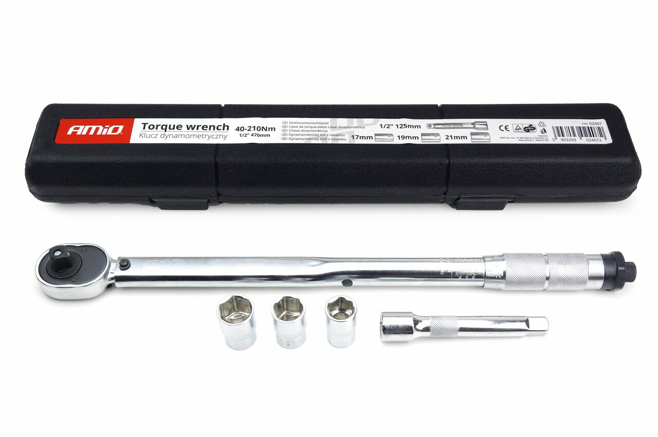 Torque Wrenche 17/19/21 mm 40-210 Nm