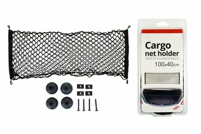 Cargo net with pocket and holders 100x40 cm