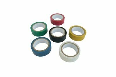 Color tape, 25 mm, 6 pcs