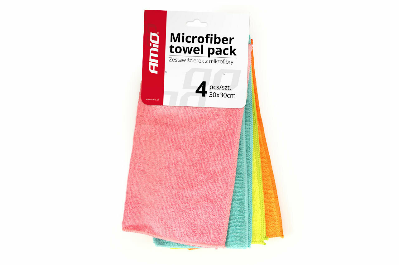 Microbifer cleaning towel 4 pcs 30x30 cm Cwash-02