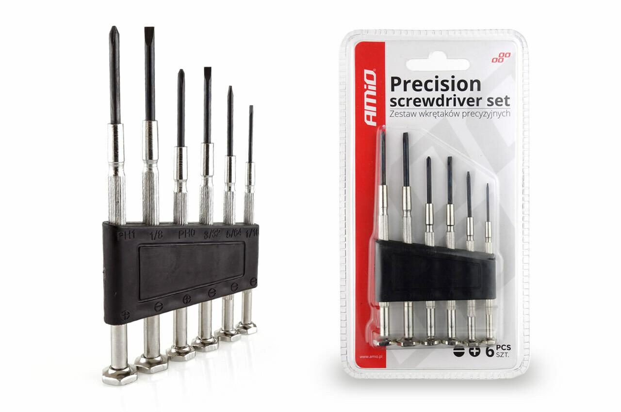 Precision screwdriver set, 6 pcs