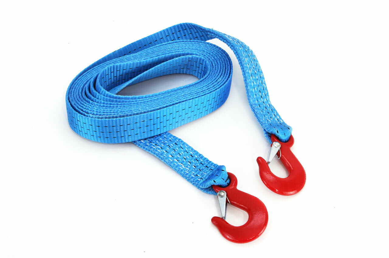 Tow rope 35 mm 5,0m with hooks 3000 kg H+H