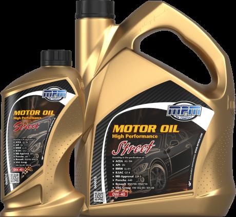 MOTOR OIL 0W-40 HIGH PERFORMANCE STREET