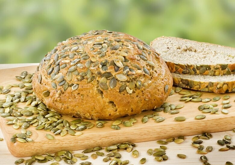 Kürbiskern-Brot im Körbli 400gr. (vegan)