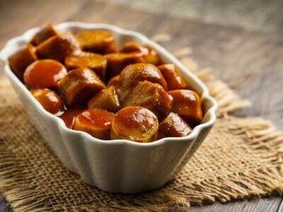 CurryVurst mit Nudelsalat (V)