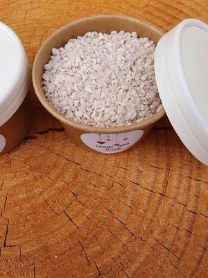 Nachfüll Packung Seifen Streusel , Lavendel, nachfüllbar,mit Kakaobutter, Olivenöl, und naturreinem Lavendelöl