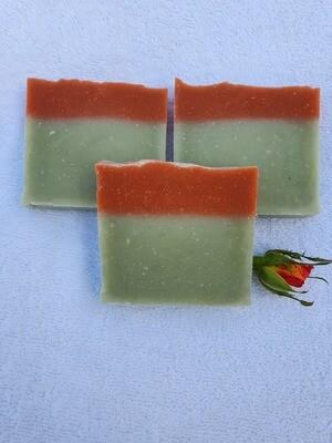 Baby Cotton, vegan, handgemachte Seife, für empfindliche und trockene Haut mit Olivenöl und Kakaobutter