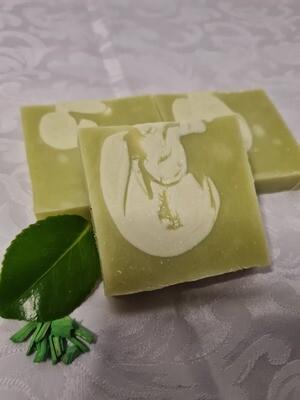Zitronen Verbene  Seife, vegan, handgemacht, geschnitten vom Block, für normale bis trockene Haut, mit Kakaobutter und Olivenöl