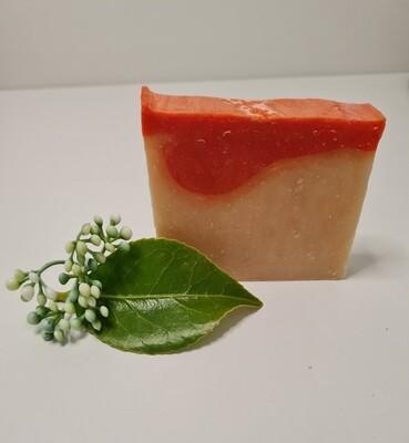 Sanddornseife, vegan, mit Kakaobutter, für die empfindliche trockene Haut.