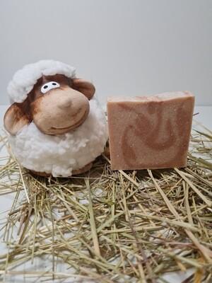Schafmilchseife, handgemacht beduftet mit Hafer Milch für trockene und empfindliche Haut