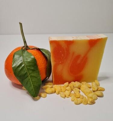 Zitrone Orange Seife, vegan, für empfindliche und trockene Haut mit Olivenöl und Kakaobutter