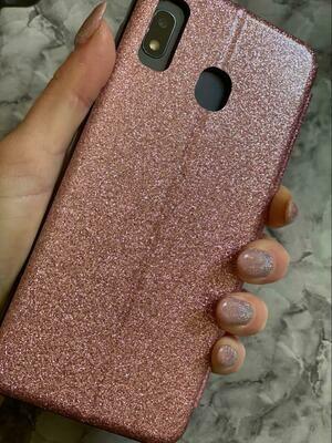 Pink Glitter Flip Book Case