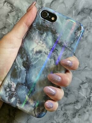 Mixed Blue Marble Case