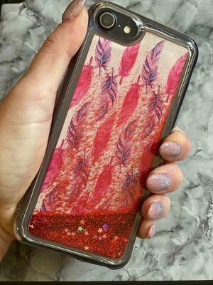 Feather Liquid Glitter Case