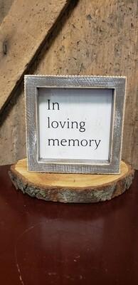 In Loving Memory Sq Box Sign