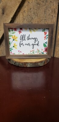 All Things Framed Sign