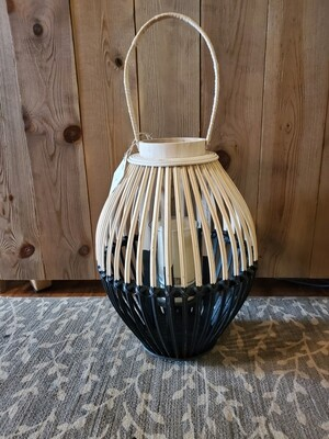 Two Tone Wood Lantern