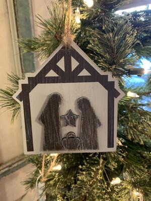 Nativity Wood Ornament